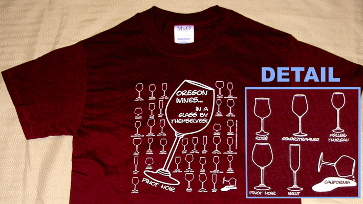 Oregon wine shirt